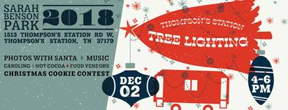 Thompson's Station Tree Lighting Advertisement