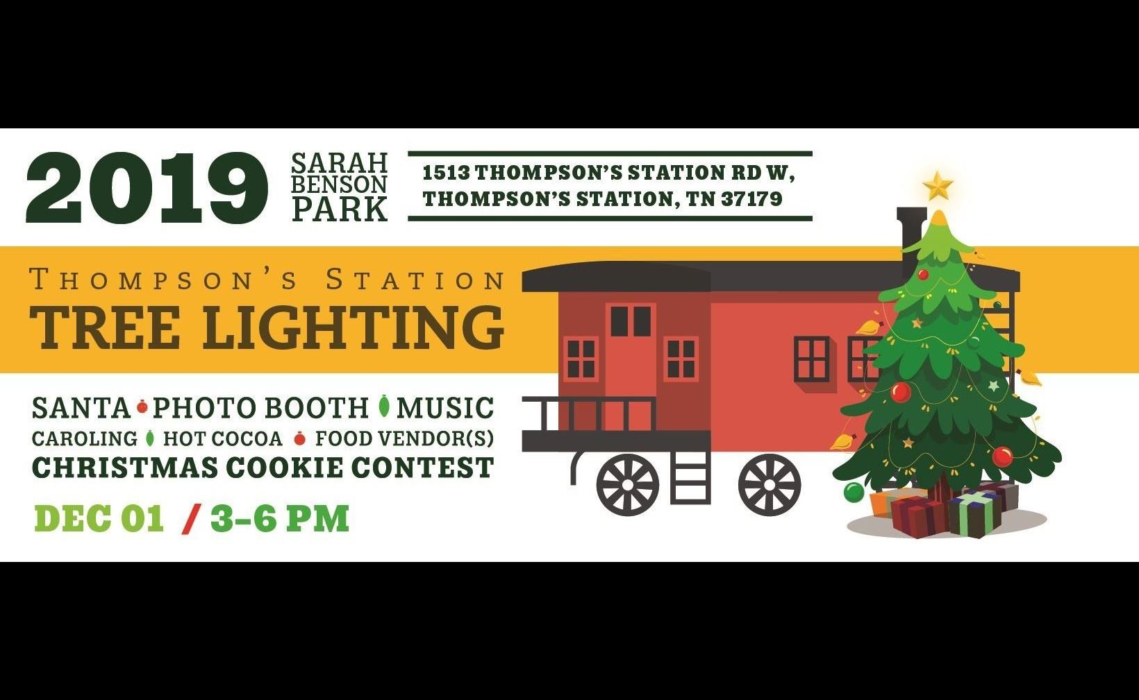 Tree Lighting Event Banner 2019