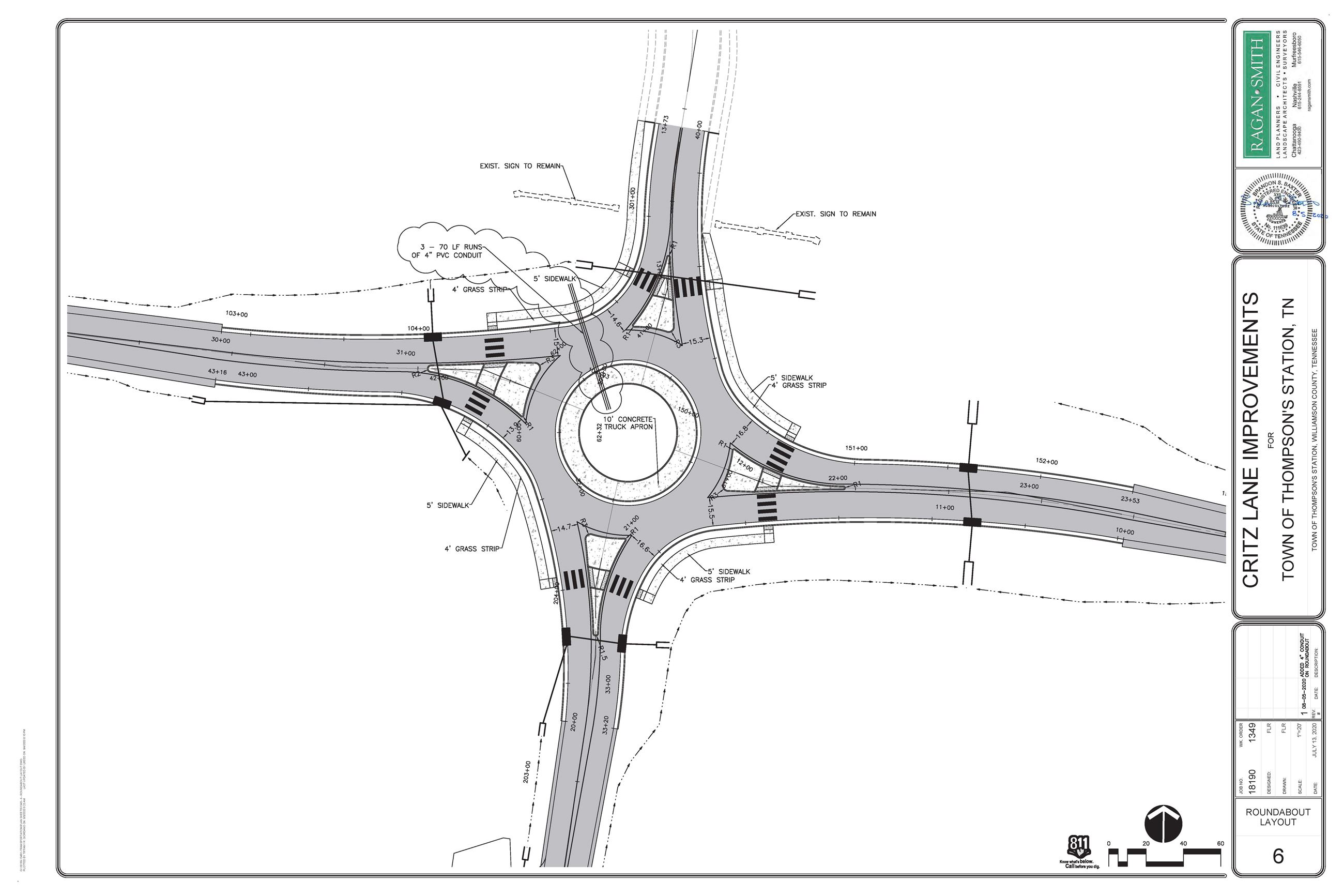 Critz Lane Roundabout Layout