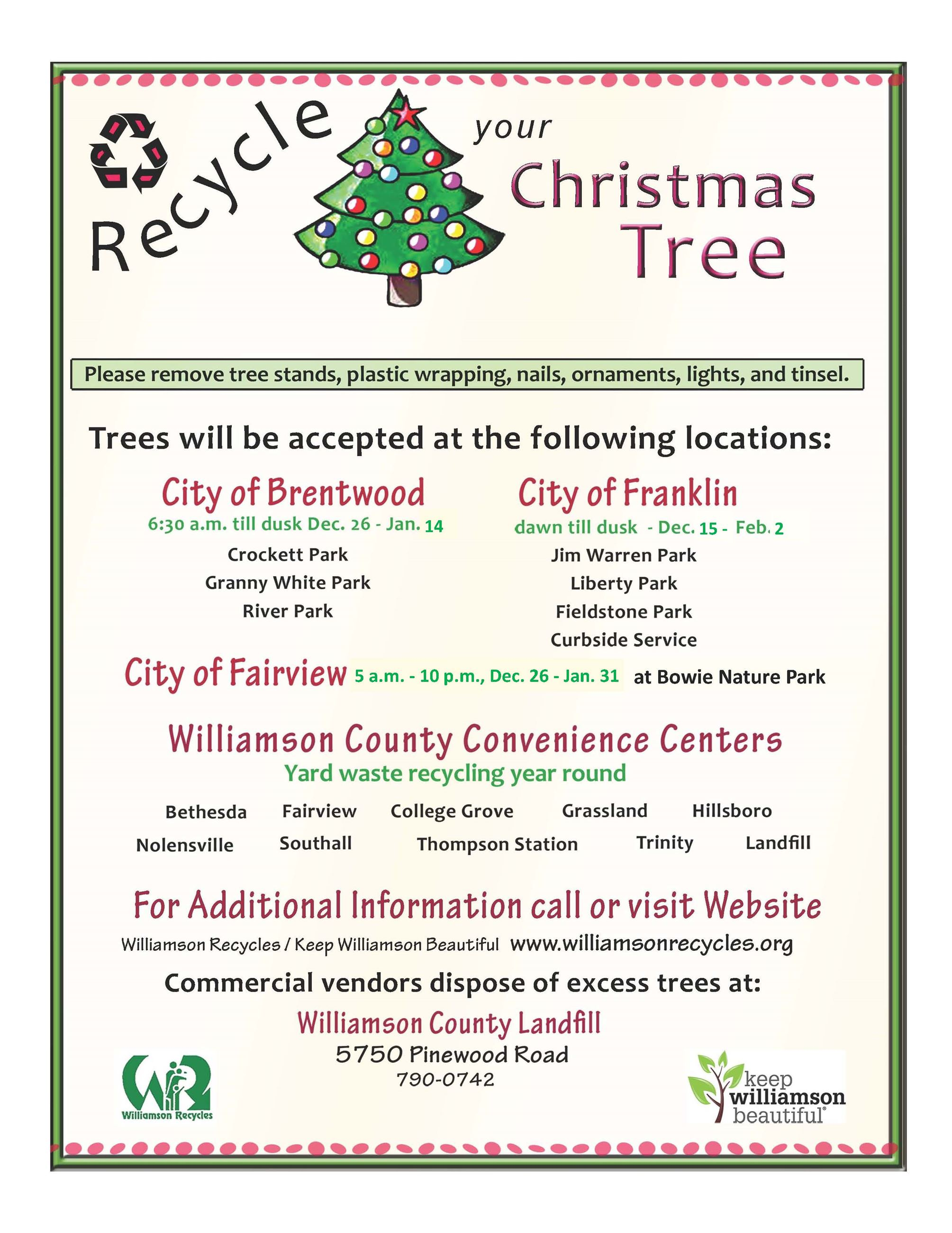 2017 Christmas Tree Recycling Flyer